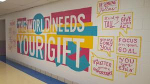 The new Simpson Academy wall mural is beautiful!